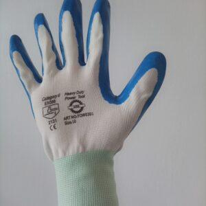 Nitrile coated Gloves(Blue)
