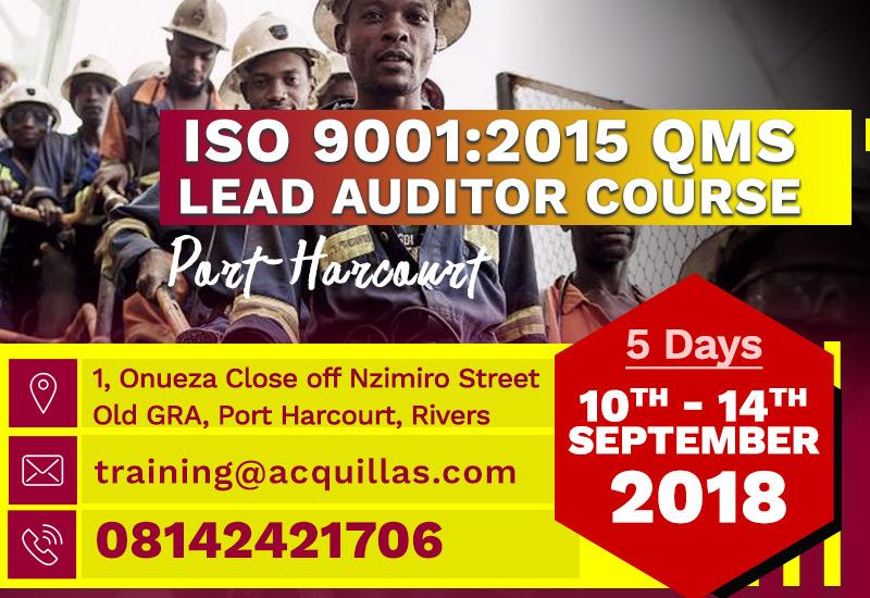 ISO 9001:2015 QMS  Lead Auditor Course In Port Harcourt
