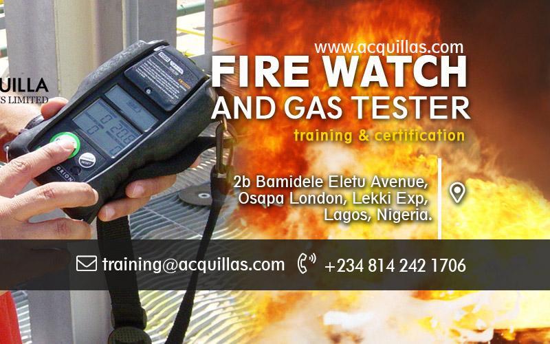 Fire Watch & Gas Tester - Nov. Training In Lagos
