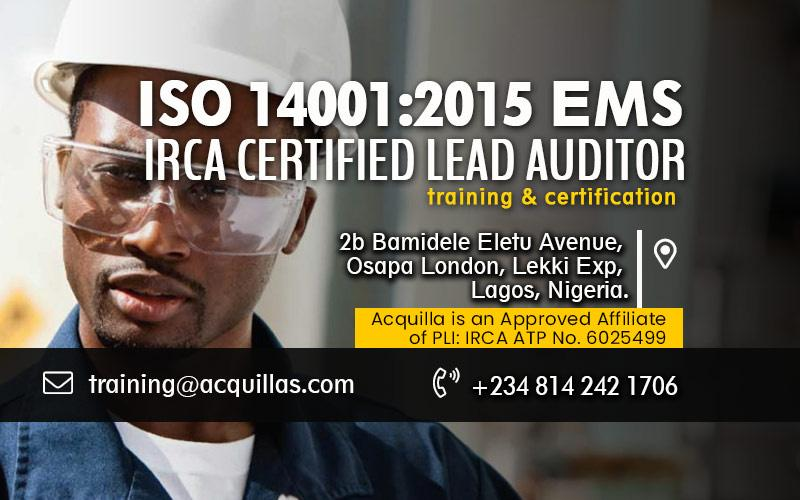 ISO 14001:2015 EMS Lead Auditor Course - Dec. Training in Lagos