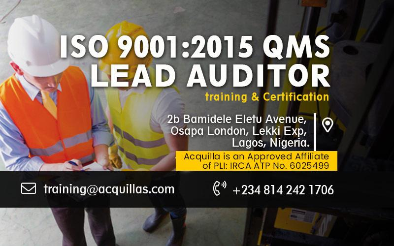 ISO 9001:2015 QMS Lead Auditor Course - Sept. Training In Lagos