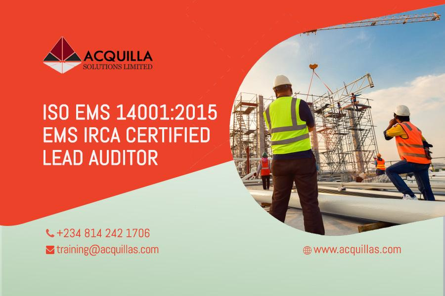 Acquilla Solutions Limited - ISO 14001:2015 Lead Auditor Course (5 Days) – Lagos Course ID 1786