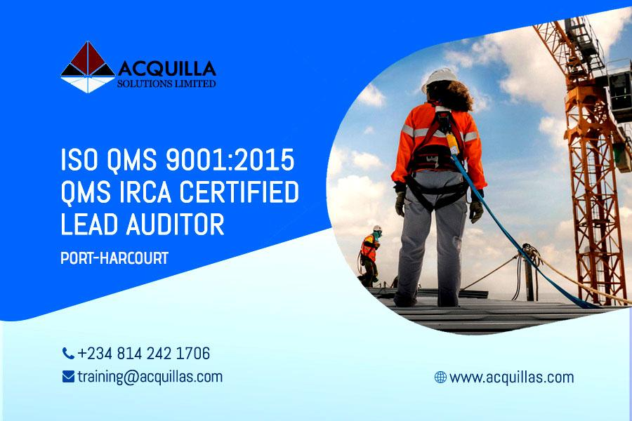 ISO 9001:2015 Lead Auditor Course (5 Days) - Port Harcourt Course ID 1718