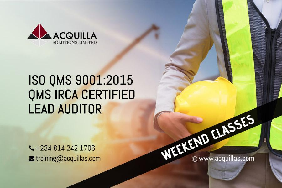 ISO 9001:2015 Lead Auditor Course (5 Days) - Weekend Course ID 1718
