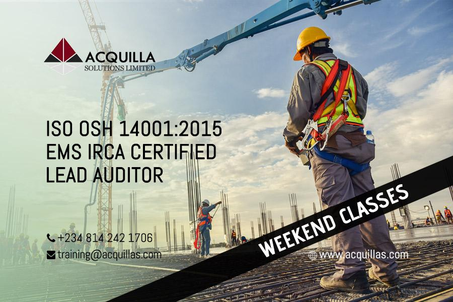 Acquilla Solutions Limited - ISO 14001:2015 Lead Auditor Course (5 Days) – Weekend Course ID 1786