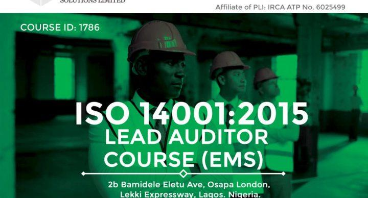 Acquilla Solutions Limited - ISO 14001:2015 Lead Auditor Course (Course ID 1786) | Lagos | April