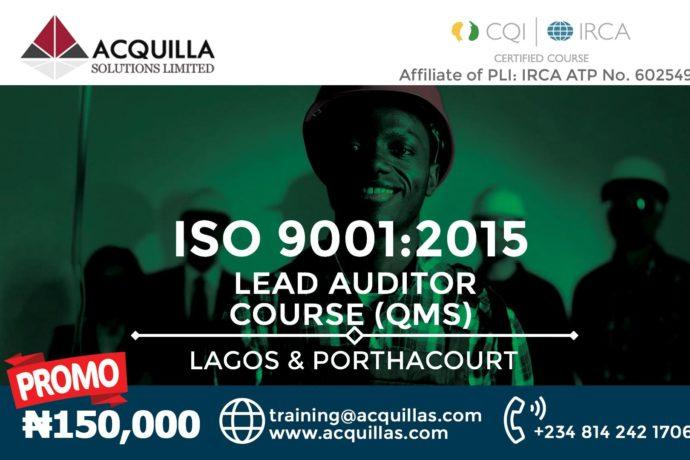 ISO 14001:2015 Lead Auditor Course (Course ID 1786) | Lagos | May