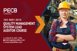 Pecb Iso 9001 2015 Quality Management System Lead Auditor Course